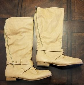 Camel riding boots